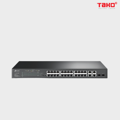TL-SL2428P JetStream 24 cổng 10 / 100Mbps + 4 cổng Gigabit Smart Switch với 24 cổng PoE +