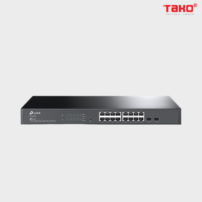 TL-SG2218 Switch Smart JetStream 16-Cổng Gigabit với 2 khe cắm SFP