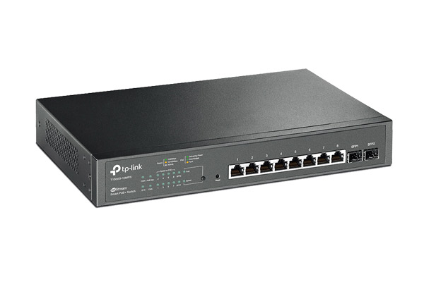 T1500G-10MPS JetStream 8-Port Gigabit Smart PoE+ Switch with 2 SFP Slots T1500G-10MPS 2